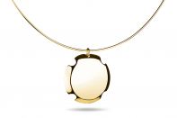 Bouchon necklace by Anna Marešová, Champagne collection.