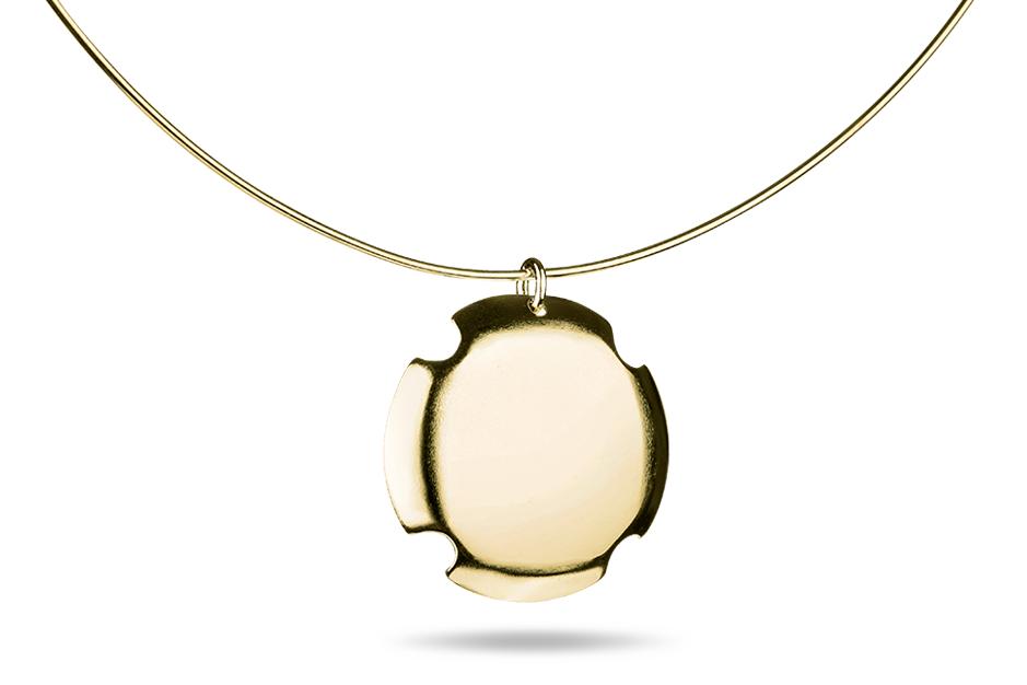 Bouchon Necklace - Stříbrný náhrdelník pozlacený, mat