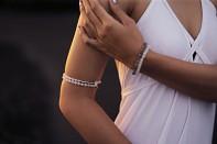 HANUMAN bracelet - rainbow moonstone and silver.
