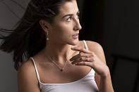BHUSANA - Stříbrný náhrdelník, růžově pozlacený