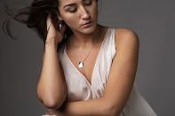 Noshi Necklace - stříbro a černé rhodium, krátký