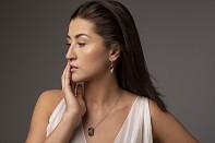 NOSHI Hanging Earrings - Stříbro a černé rhodium