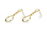 Muselet earrings by Anna Marešová, Champagne collection.
