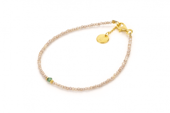 RATU AMAZONAS - dedicated to the desire for LOVE, zircon, emerald and gold plated silver