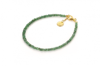 MANDALAY BAY - dedicated to the desire for DECISION, emerald and gold plated silver