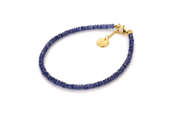 MAJULI - dedicated to the desire for DECISION, sapphire and gold plated silver