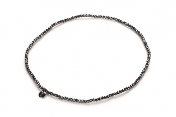 LUNA Necklace - dedicated to the desire for LOVE, hematite, pearl and silver