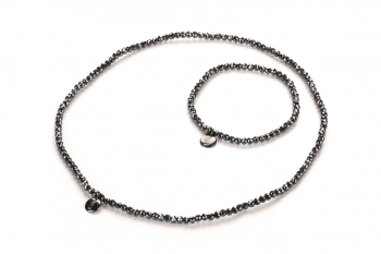 LUNA Set - bracelet and choker with hematite dedicated to the desire for LOVE