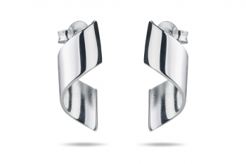 OMG Crush Earrings - silver, glossy