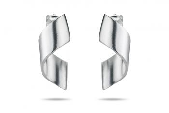 OMG Crush Earrings - silver, matte
