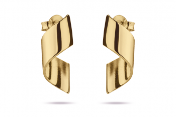 OMG Crush Earrings - gold plated silver, glossy