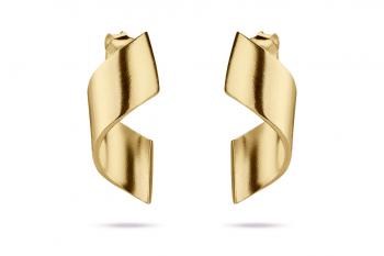 OMG Crush Earrings - gold plated silver, matte