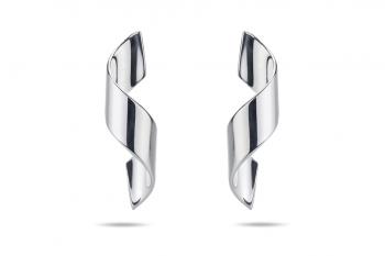 Guilty Crush Earrings - silver, glossy