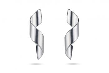 Guilty Crush Earrings - silver, matte