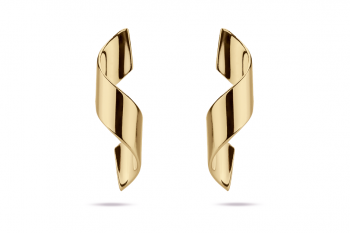 Guilty Crush Earrings - gold plated silver, glossy