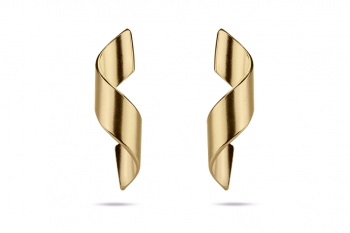 Guilty Crush Earrings - gold plated silver, matte