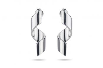 Fatal Crush Earrings - stříbrné náušnice, lesk