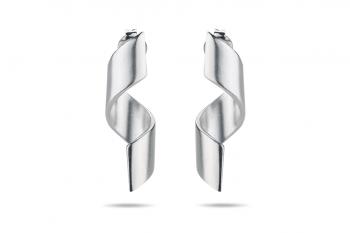 Fatal Crush Earrings - stříbrné náušnice, mat