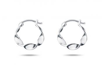 Little Crush Hoops - silver earrings, glossy