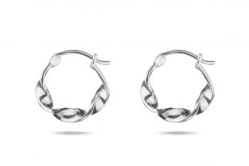 Little Crush Hoops - silver earrings, matte
