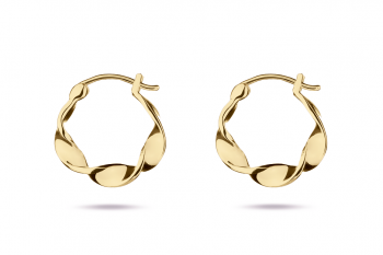 Little Crush Hoops - gold plated silver earrings, glossy