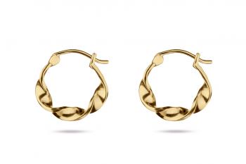 Little Crush Hoops - gold plated silver earrings, matte