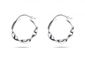 Pretty Big Crush Hoops - silver earrings, glossy