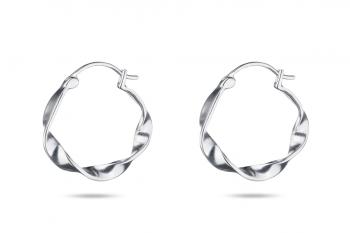 Pretty Big Crush Hoops - silver earrings, matte
