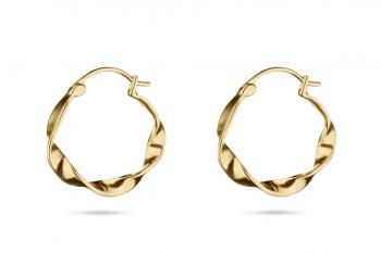 Pretty Big Crush Hoops - gold plated silver earrings, matte