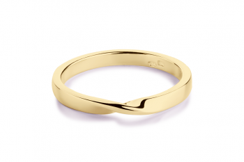 OMG Crush Ring - gold plated silver, glossy