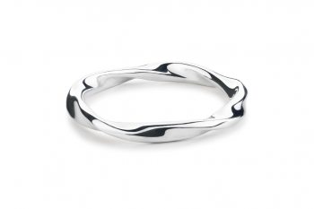 Fatal Crush Ring - silver, glossy