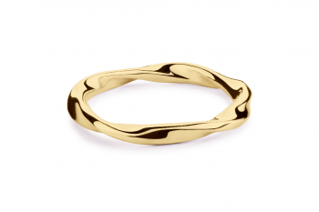 Fatal Crush Ring - gold plated silver, glossy