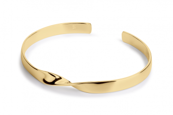 OMG Crush Bracelet - gold plated silver, glossy