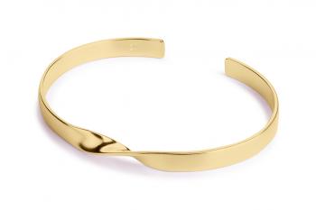 OMG Crush Bracelet - stříbrný náramek pozlacený, mat
