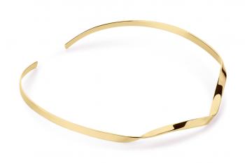 Expensive Crush Necklace - stříbrný náhrdelník pozlacený, lesk