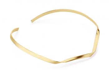 Expensive Crush Necklace - stříbrný náhrdelník pozlacený, mat