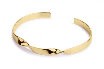 Expensive Crush Bracelet - stříbrný náramek pozlacený, mat