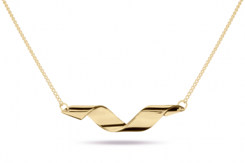 Fatal Crush Necklace - gold plated silver, glossy
