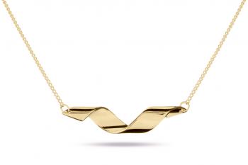 Fatal Crush Necklace - stříbrný náhrdelník pozlacený, lesk