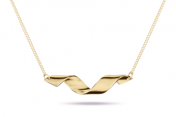 Fatal Crush Necklace - stříbrný náhrdelník pozlacený, mat