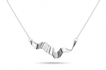 Summer Crush Necklace - silver, glossy