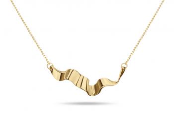 Summer Crush Necklace - stříbrný náhrdelník pozlacený, lesk