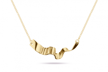 Summer Crush Necklace - gold plated silver, matte