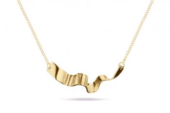 Summer Crush Necklace - stříbrný náhrdelník pozlacený, mat