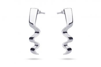 Summer Crush Earrings - stříbrné náušnice, lesk