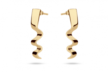 Summer Crush Earrings - gold plated silver, glossy