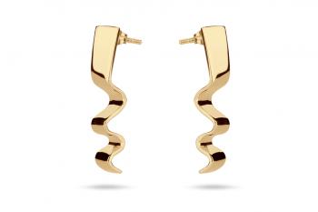 Summer Crush Earrings - stříbrné náušnice pozlacené, lesk