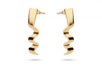 Summer Crush Earrings - gold plated silver, matte