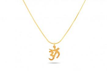 ÓM SHIVA - Stříbrný náhrdelník pozlacený