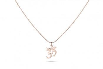 OM - Silver chainlet 53 cm, om symbol